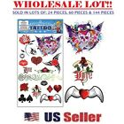 Gothic Temporary Tattoo Biker Style Assorted Removable Tattoos (BULK LOT)