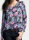 NWT Ann Taylor Floral Print Long Sleeve Blouse Top Size S