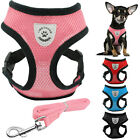 Air Mesh Puppy Pet Dog Harness&Leash Set for Chihuahua Poodle Rabbit Breathable