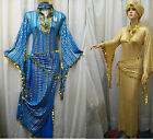 Egyptian Belly Dance Baladi Saidi Galabeya Dancing Dress Costume+2 SCARVES T 62