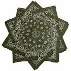Hoodboyz Single-color Pack 10 Pcs Herren Bandana Olive Weiß(83375)
