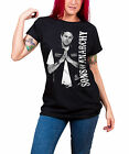 Sons of Anarchy T Shirt Jax Teller new Official Womens Black Skinny Fit