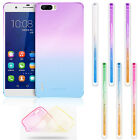 Fashion Ombre Gradually Gel Rubber TPU Soft Case Skin Cover For Huawei phones