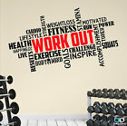 Pro WORKOUT Motivational Gym Wall Decal Quote, Fitness Training Exercise Diet