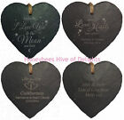 PERSONALISED Heart Slate Hanging ENGRAVED Sign Gift Idea For Him Her Present