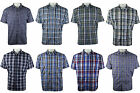 Mens Summer Short Sleeve Yarn Dyed Check Polycotton Shirt By Tom Hagan