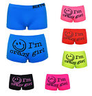 Ladies Novelty Boxer Shorts Funny Trunks Underwear Stretchable Boxers I Am Crazy