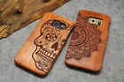 Real Rosewood Carving Case Hard Cover For Samsung Galaxy S7 Edge S7 Mobile Phone