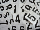 "75mm 3"" Black on White Sticky Numbers, Numbering Stickers, Plastic Labels"