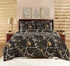 Realtree Camo Bedding Comforter Set with SHAMS Twin Full Queen King Black NEW