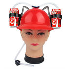 Beverage Helmet Drinking Beer Coke Soda Miner Hat Lazy Straw Cap Party Toy 2016