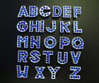 5pcs 8mm slide letters A-Z Fit DIY Name Bracelet-Phone strips-SL032-blue