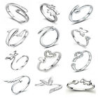 Fashion Various 925 Silver Opening Adjustable Rings 15 Kinds Love Gift