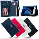 Magnetic Flip Cover Card Canvas Wallet Stand Case For Samsung Galaxy S7 /Edge