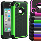 Shockproof Dual layer Hybrid Hard Protective Silicone Case Cover iPhone 4s