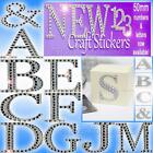 LUXURY CRAFT STICKERS LETTERS 5cm large Diamante glitter Strong adhesive backed