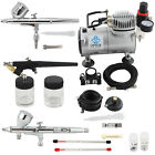 OPHIR Pro Air Compressor & 3x Airbrushing Kit Set for Temporary Tattoo Nail Art