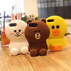 Cartoon Cute Brown Bear Bunny Sally silicone Cover case for iPhone X 8 7 6S plus