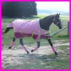 LOVE MY HORSE 600D 300g 5'0 - 6'6 Reflective Winter Std Rug Waterproof Pink Lime
