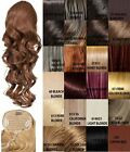 """GLAMOUR OO3 LONG WOMENS CURLY PONYTAIL 22"""" CLIP IN HAIR EXTENSIONS KOKO UK STOCK"""