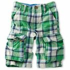 MINI BODEN BOYS COTTON CHECKED CARGO SHORTS BNWOT AGE 1-14 YEARS
