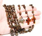 Genuine Baltic Amber Rosary Necklace Catholic Christianity Cross Religion