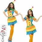 Adult Fever Clown Colourful Cutie Costume Ladies Circus Fancy Dress Outfit New