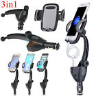 Dual USB Car Charger Holder W/ Cigarette Lighter Chargers For Samsung S6/S7 Edge