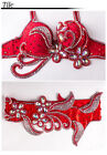 Belly Dance Costume Outfit Set Bra Top Belt Hip Scarf Bollywood Carnival 2PCS