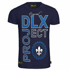 New Mens DLX ORIGINAL Branded Navy Beach Summer Round Neck Navy Tshirt S M L XL