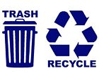 Trash Recycle Decals Vinyl Recycling Stickers