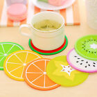 Fruit Shape Silicone Cup Coaster Anti-Slip Mat Insulation Creative Pad Coaster Y