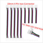 Clever 10mm 4 Pin two Connector Cable SMD LED 5050 RGB Strip Light 1/5/10X CAMO