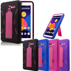 Heavy Duty Hybrid Case Hard Shell Cover For Alcatel OneTouch PIXI 3 POP 7  LTE