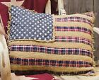 Primitive Patriotic AMERICAN FLAG PLACEMAT or QUILTED~Americana~PILLOW SHAM