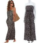 Sexy Women Sleeveless Vintage Boho Floral Print Cocktail Evening Maxi Dress