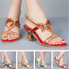 Hot Women Rhinestone High Heel Platform Wedding Bride Evening Dress Sandal Shoes