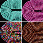 Jade Stone Gemstone 2mmx4mm Faceted Rondelle Spacer Loose Beads 15.5''