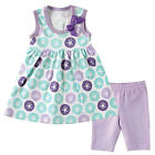 Hudson Baby Girls Purple Sand Dollar Printed Tunic Dress & Cropped Leggings