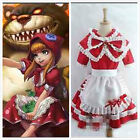 LOL Annie dress League Of Legends Cosplay Red Hat costume Lolita Free shipping