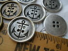 "Anchor buttons antique brass or pewter/silver color finish 25mm 1"" blazer coat"