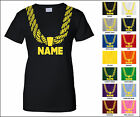 Gold Chain Hip Hop Funny Adult Woman's T-Shirt