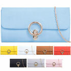 Ladies Designer Faux Leather Clasp Clutch Bag Evening Bag Bridal Handbag K465