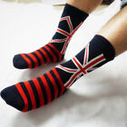 NEW Men's Union Jack England Britain Flag  Stripes Cotton Mid-calf Length Socks