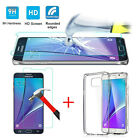 Tempered Glass Film Screen LCD Protector+Crystal Soft Case For Samsung Galaxy LG