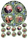 """BUBBLE EFFECT ADD OWN PHOTO CUSTOM MADE 7.5"""" ROUND EDIBLE CAKE TOPPER & EXTRAS"""