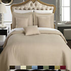 Quilted Checkered Coverlet/Bedspread Set, Luxury 100% Microfiber Wrinkle-Free image