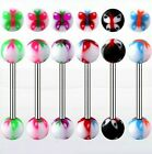 Tongue Bars with Butterfly Balls in 1.6mm x 16mm Barbells Nipple