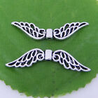 5/10/100Pcs Tibetan Silver Hollow Fancy Angel Wing Charms Spacer Beads 52mm New