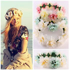 Lovely Women Wedding Big Flower Wreath Crown Headband Floral Garlands Hair band